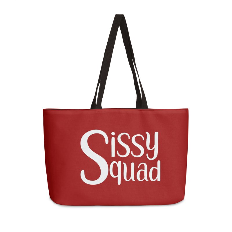 Sissy Squad - WHITE LETTER-NOT FOR LIGHT COLORS! Accessories Bag by Sissy Store: 90 Day Gays Swag
