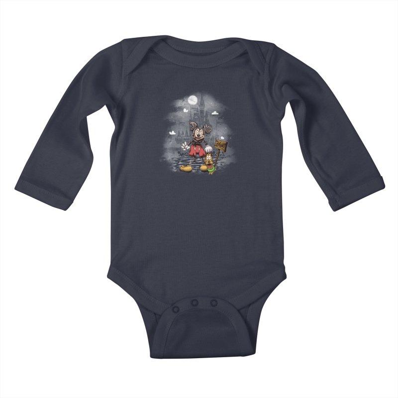Mickey Die Kids Baby Longsleeve Bodysuit by Arashi-Yuka