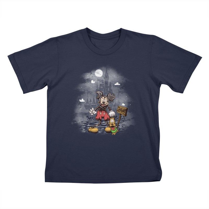 Mickey Die Kids T-Shirt by Arashi-Yuka