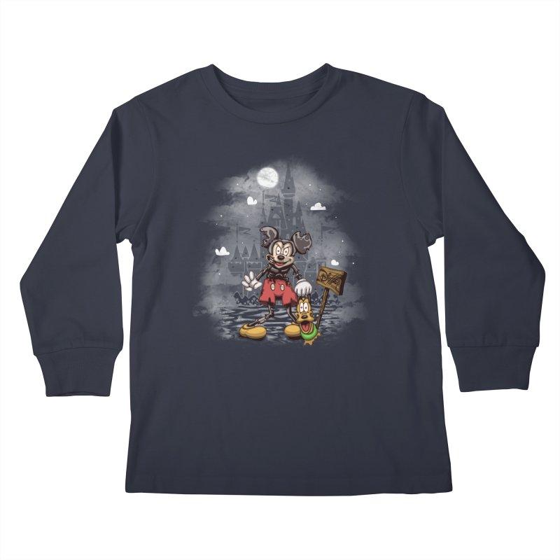 Mickey Die Kids Longsleeve T-Shirt by Arashi-Yuka