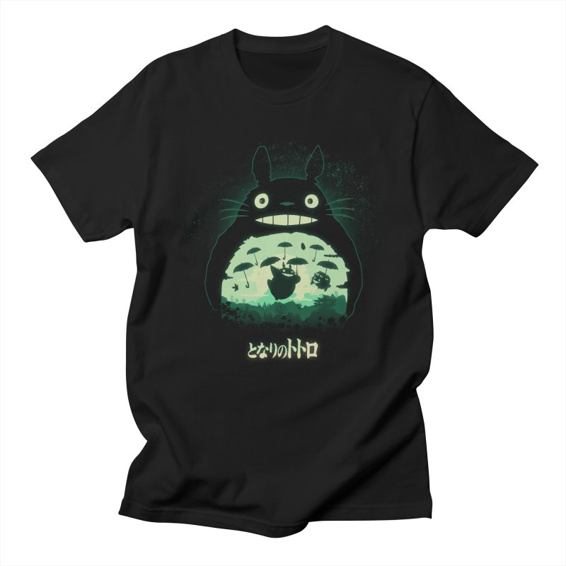 Totoro And His Umbrellas Men's T-Shirt by Arashi-Yuka