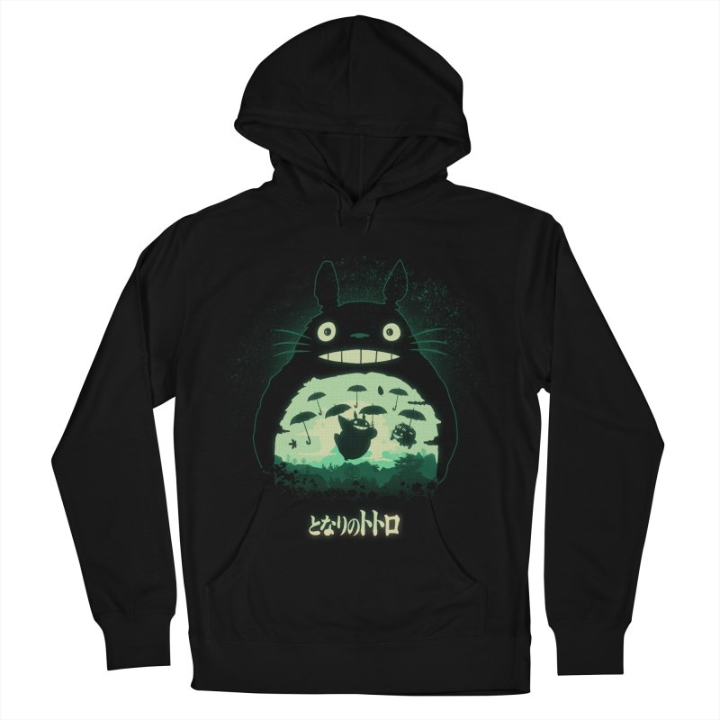 Totoro And His Umbrellas Women's French Terry Pullover Hoody by Arashi-Yuka