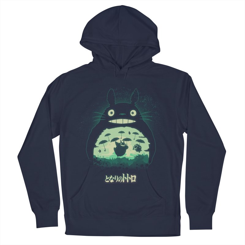 Totoro And His Umbrellas Men's French Terry Pullover Hoody by Arashi-Yuka
