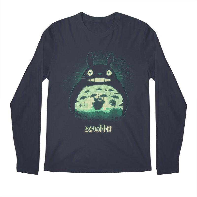 Totoro And His Umbrellas Men's Regular Longsleeve T-Shirt by Arashi-Yuka