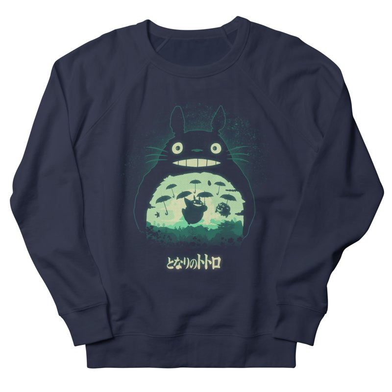 Totoro And His Umbrellas Men's French Terry Sweatshirt by Arashi-Yuka