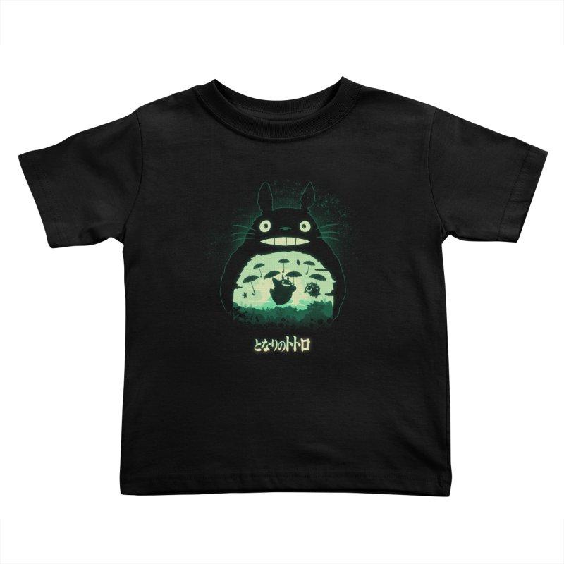 Totoro And His Umbrellas Kids Toddler T-Shirt by Arashi-Yuka