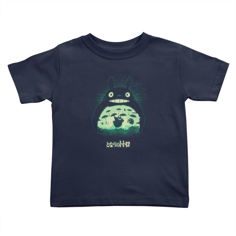 Totoro And His Umbrellas Kids Toddler T-Shirt by Arashi-Yuka