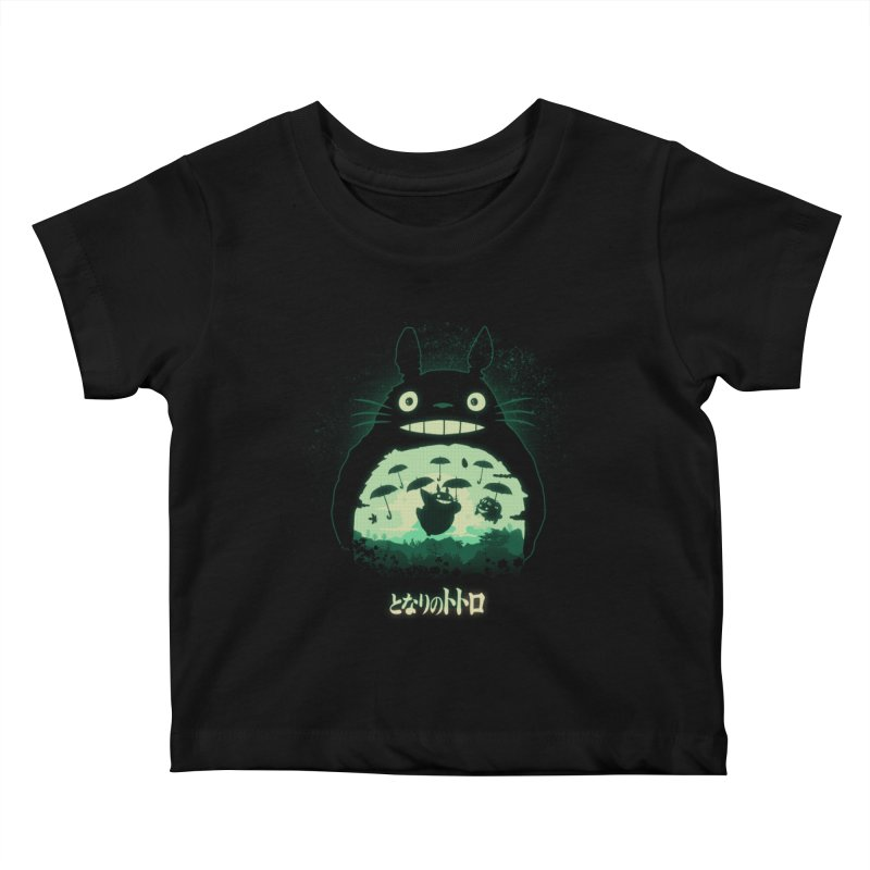 Totoro And His Umbrellas Kids Baby T-Shirt by Arashi-Yuka