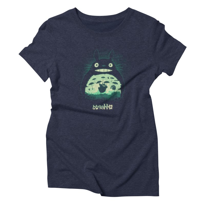 Totoro And His Umbrellas Women's Triblend T-Shirt by Arashi-Yuka