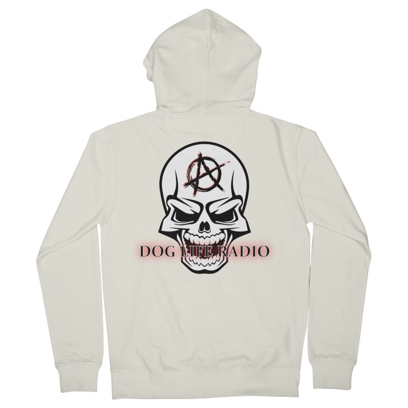 Dog Life Radio Men's French Terry Zip-Up Hoody by SixSqrlStore