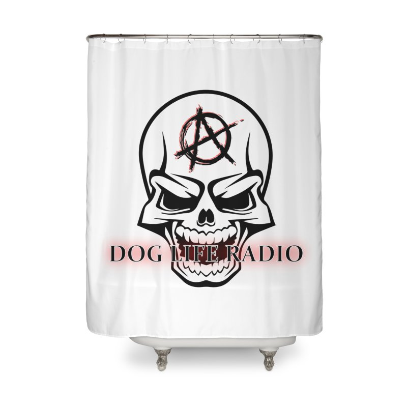Dog Life Radio Home Shower Curtain by SixSqrlStore