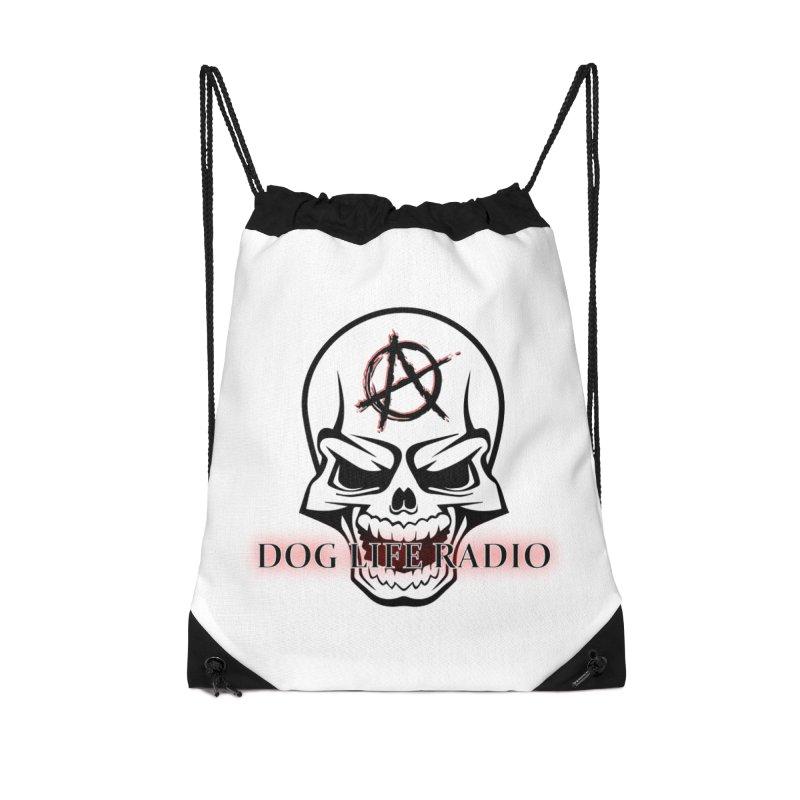 Dog Life Radio Accessories Drawstring Bag Bag by SixSqrlStore