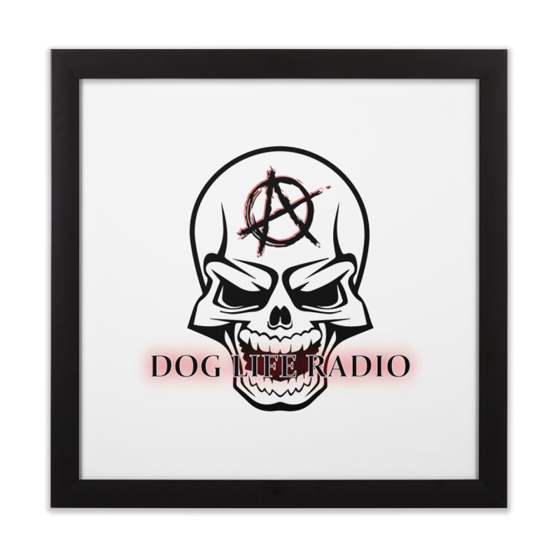 Dog Life Radio Home Framed Fine Art Print by SixSqrlStore