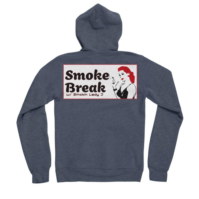 Smoke Break Classic Men's Sponge Fleece Zip-Up Hoody by SixSqrlStore