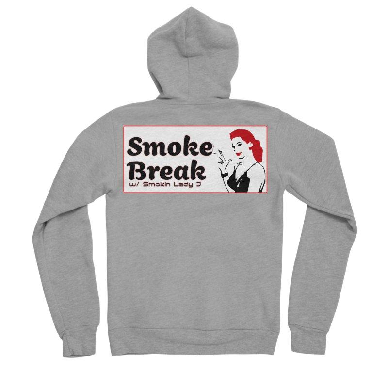 Smoke Break Classic Women's Sponge Fleece Zip-Up Hoody by SixSqrlStore