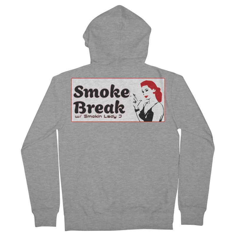 Smoke Break Classic Men's French Terry Zip-Up Hoody by SixSqrlStore