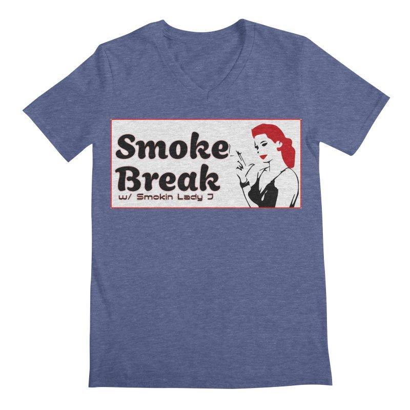 Smoke Break Classic Men's Regular V-Neck by SixSqrlStore