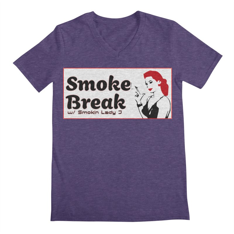 Smoke Break Classic Men's Regular V-Neck by SixSqrlStore