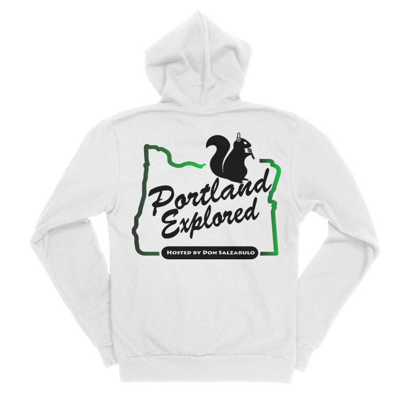 PDXPLRD Men's Sponge Fleece Zip-Up Hoody by SixSqrlStore