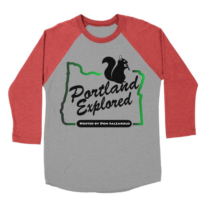 PDXPLRD Men's Baseball Triblend Longsleeve T-Shirt by SixSqrlStore