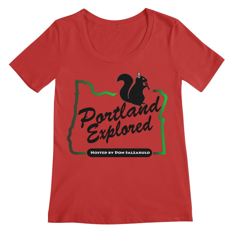 PDXPLRD Women's Regular Scoop Neck by SixSqrlStore