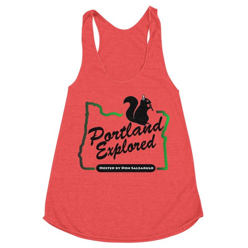 PDXPLRD Women's Racerback Triblend Tank by SixSqrlStore