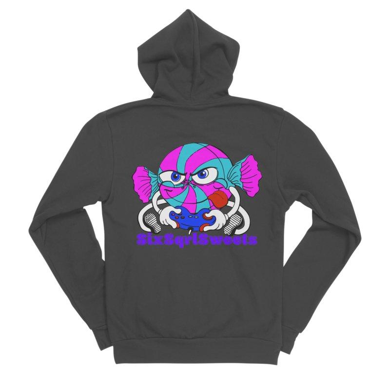 Classic Sweets Logo Men's Sponge Fleece Zip-Up Hoody by SixSqrlStore