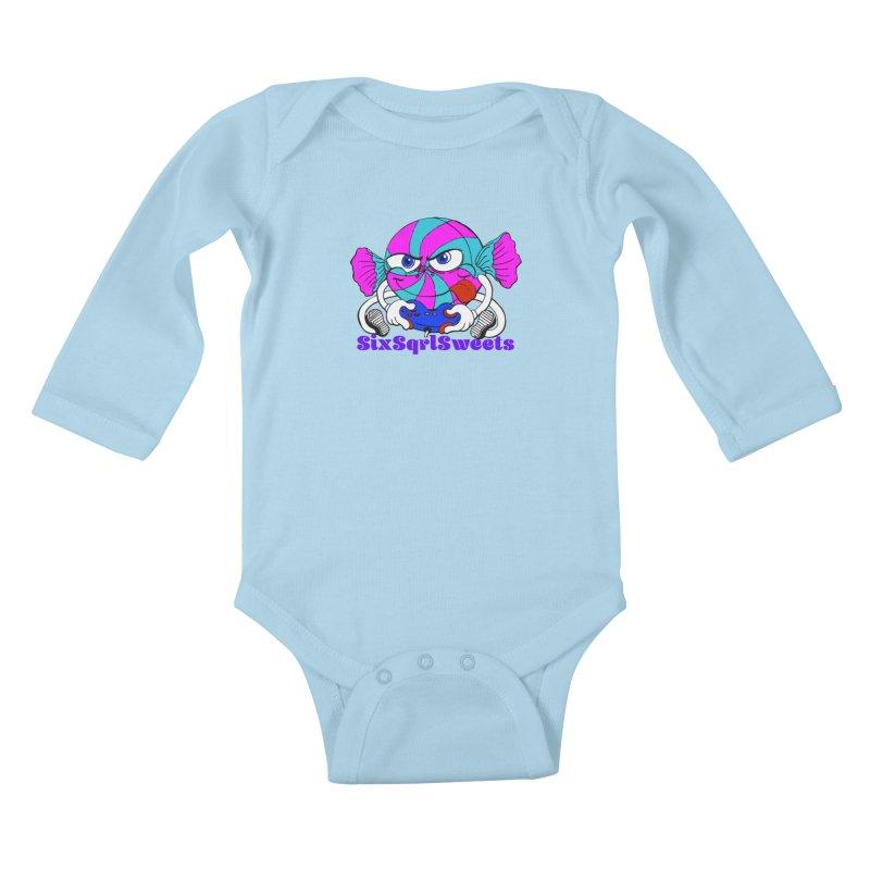 Classic Sweets Logo Kids Baby Longsleeve Bodysuit by SixSqrlStore