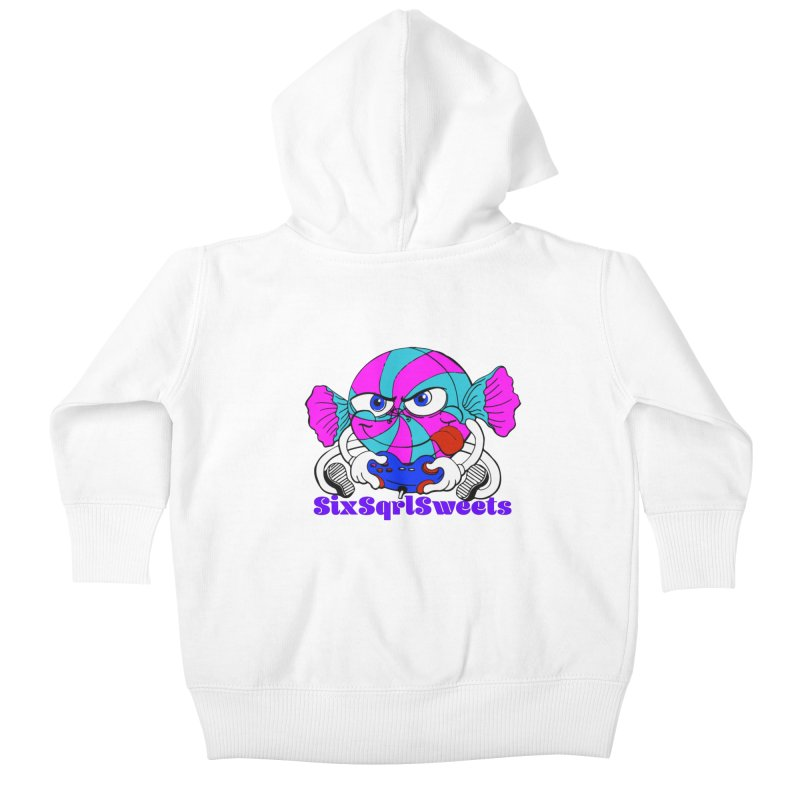 Classic Sweets Logo Kids Baby Zip-Up Hoody by SixSqrlStore