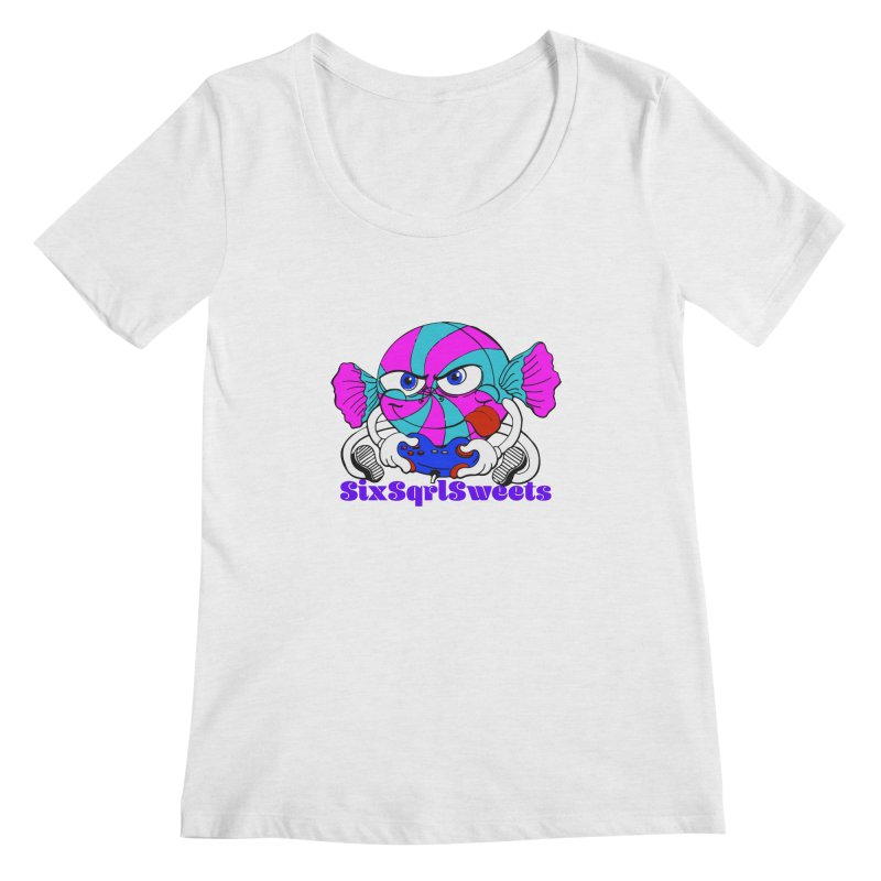 Classic Sweets Logo Women's Regular Scoop Neck by SixSqrlStore