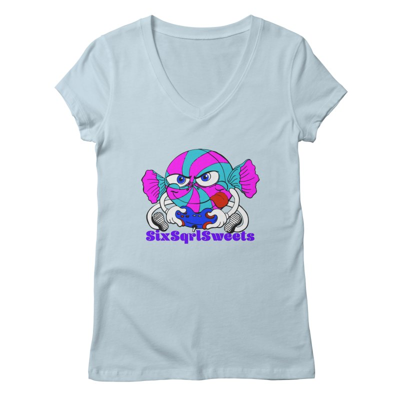 Classic Sweets Logo Women's Regular V-Neck by SixSqrlStore