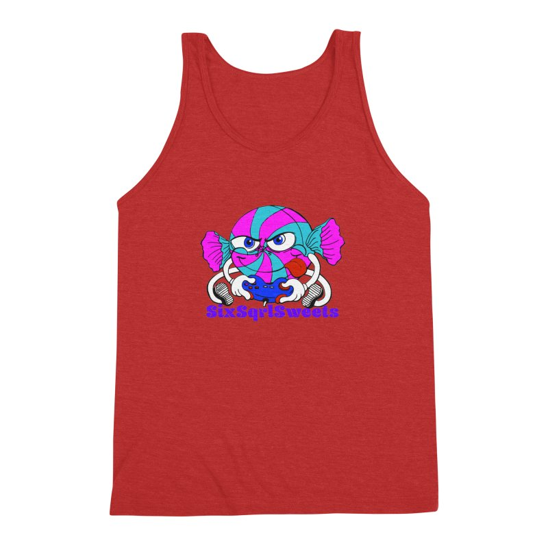 Classic Sweets Logo Men's Triblend Tank by SixSqrlStore