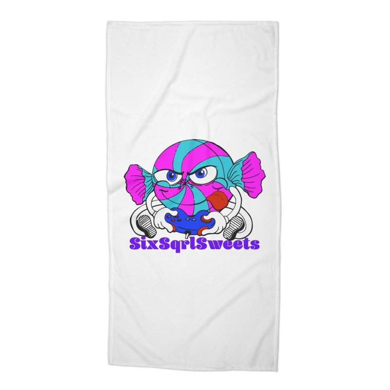 Classic Sweets Logo Accessories Beach Towel by SixSqrlStore