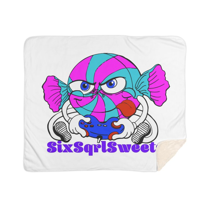 Classic Sweets Logo Home Sherpa Blanket Blanket by SixSqrlStore