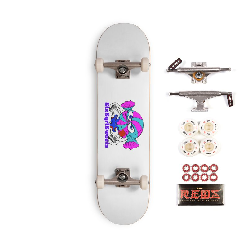 Classic Sweets Logo Accessories Complete - Pro Skateboard by SixSqrlStore