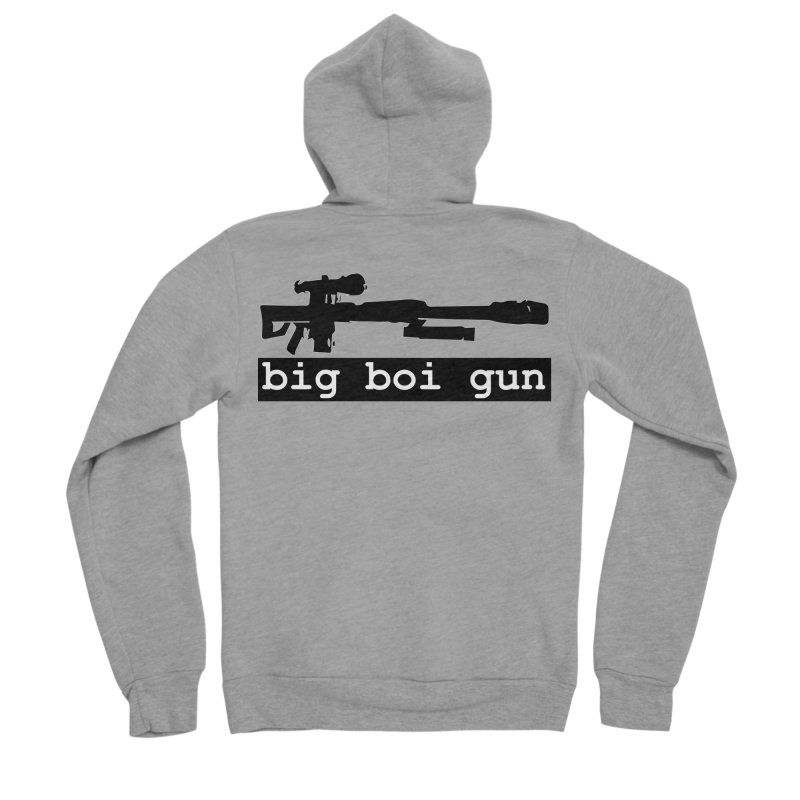 BBG aka Big Boi Gun Men's Sponge Fleece Zip-Up Hoody by SixSqrlStore