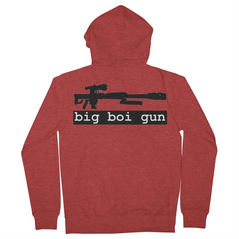 BBG aka Big Boi Gun Men's French Terry Zip-Up Hoody by SixSqrlStore