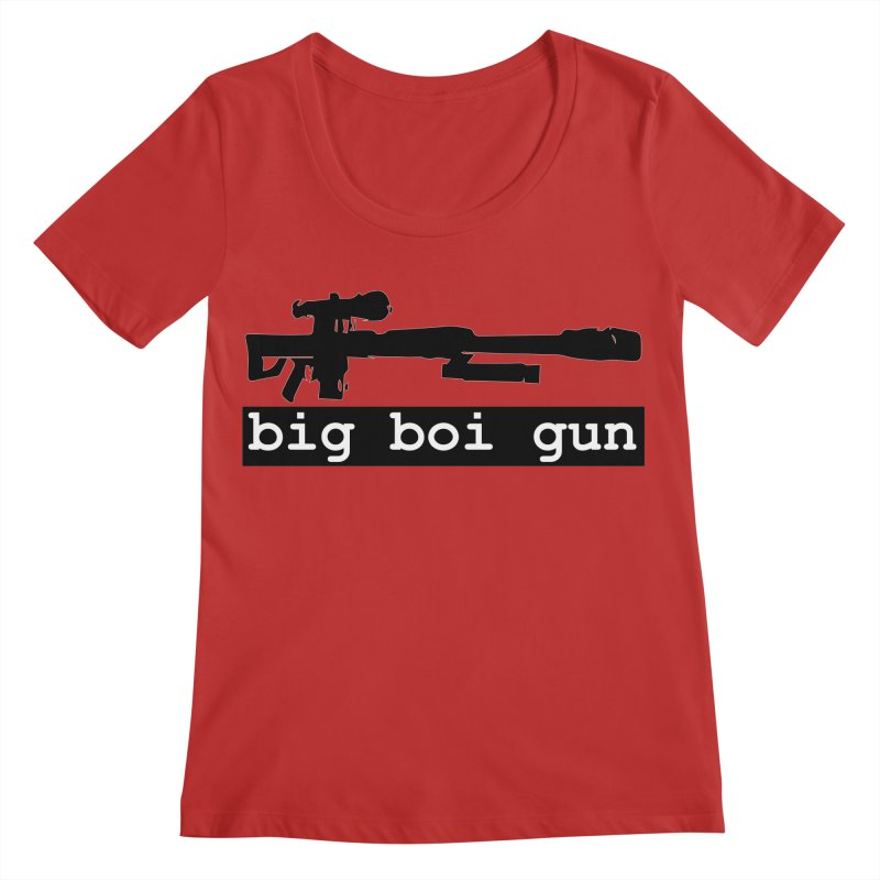 BBG aka Big Boi Gun Women's Regular Scoop Neck by SixSqrlStore