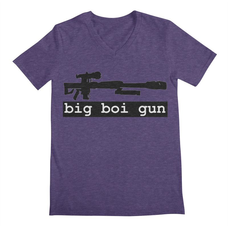 BBG aka Big Boi Gun Men's Regular V-Neck by SixSqrlStore
