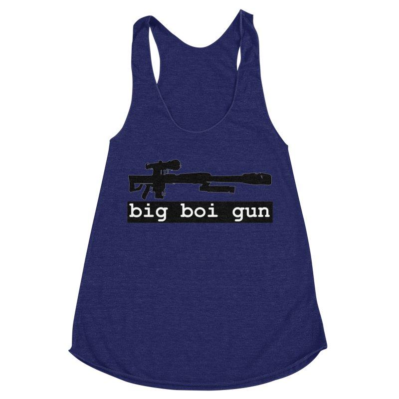 BBG aka Big Boi Gun Women's Racerback Triblend Tank by SixSqrlStore