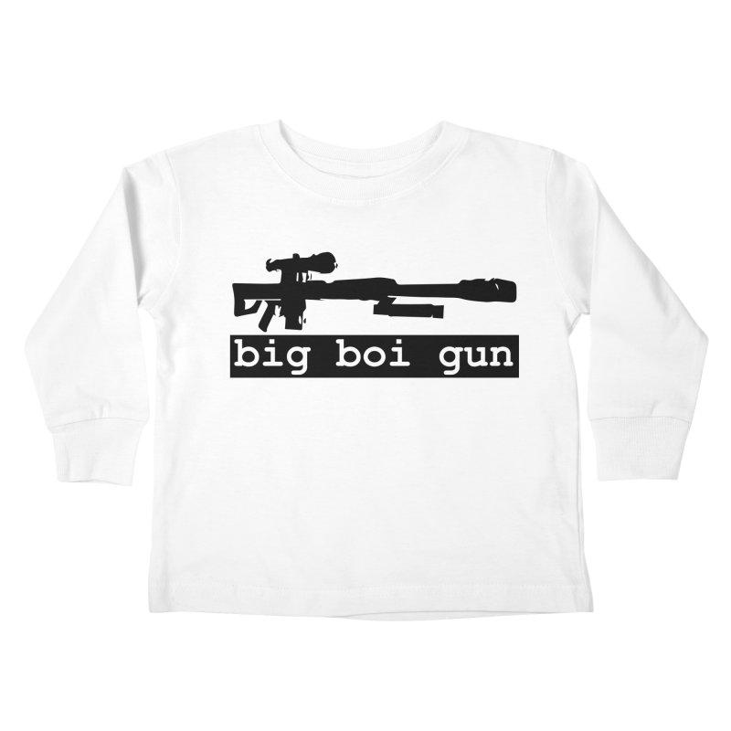 BBG aka Big Boi Gun Kids Toddler Longsleeve T-Shirt by SixSqrlStore