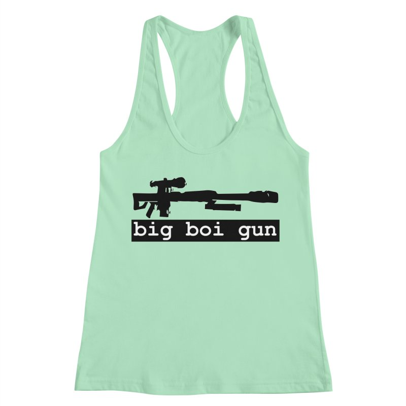 BBG aka Big Boi Gun Women's Racerback Tank by SixSqrlStore