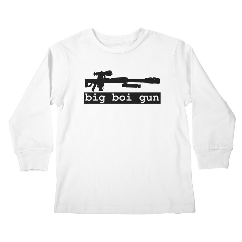 BBG aka Big Boi Gun Kids Longsleeve T-Shirt by SixSqrlStore