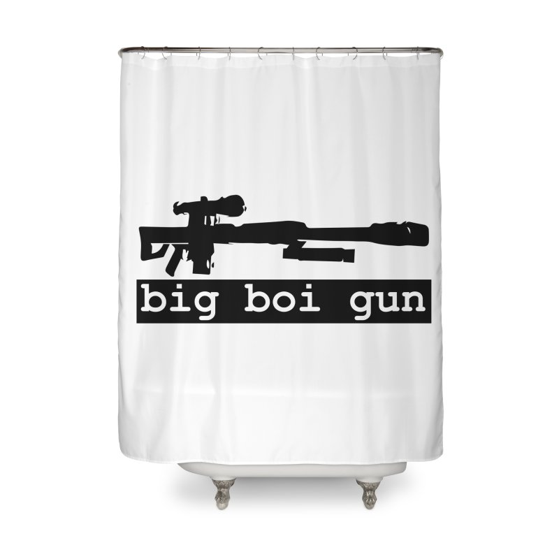 BBG aka Big Boi Gun Home Shower Curtain by SixSqrlStore