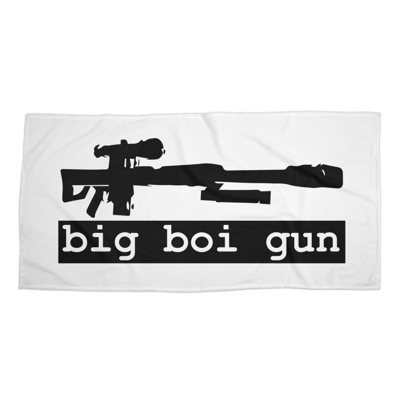 BBG aka Big Boi Gun Accessories Beach Towel by SixSqrlStore