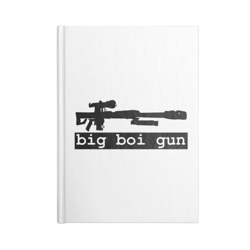 BBG aka Big Boi Gun Accessories Blank Journal Notebook by SixSqrlStore