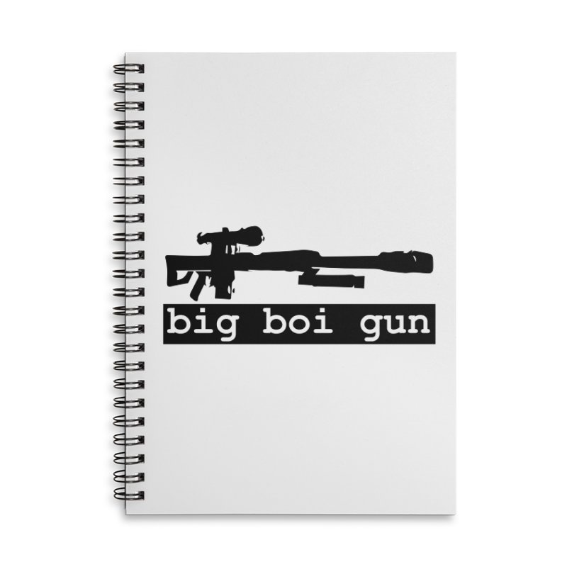 BBG aka Big Boi Gun Accessories Lined Spiral Notebook by SixSqrlStore