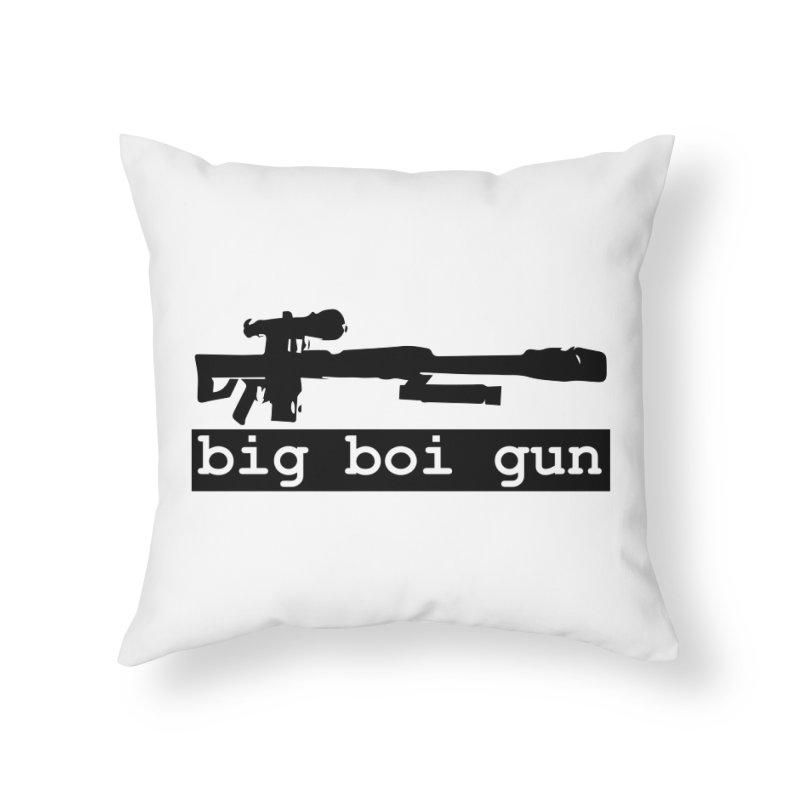 BBG aka Big Boi Gun Home Throw Pillow by SixSqrlStore