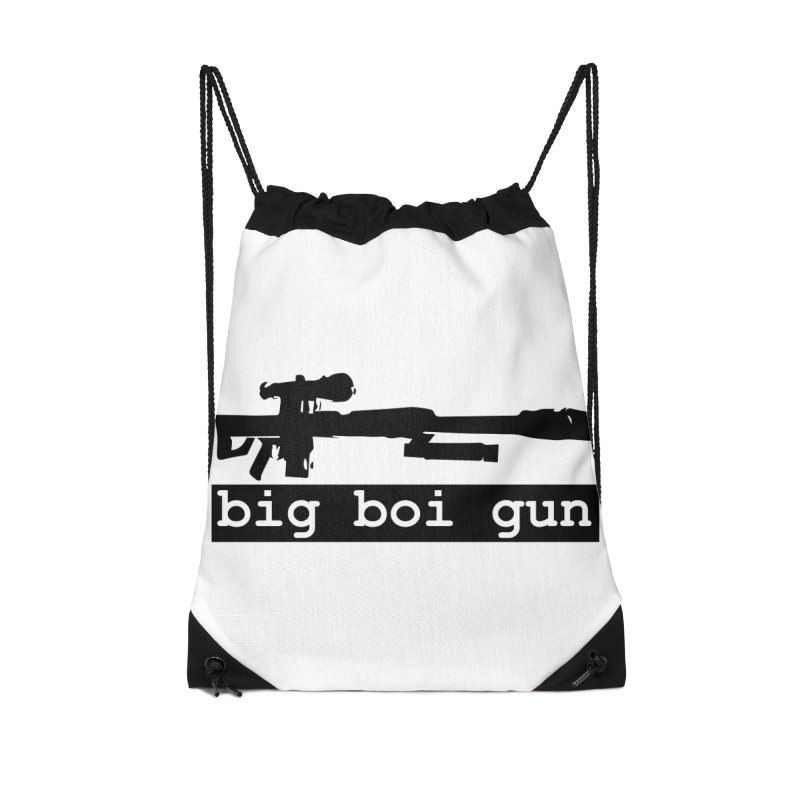 BBG aka Big Boi Gun Accessories Drawstring Bag Bag by SixSqrlStore