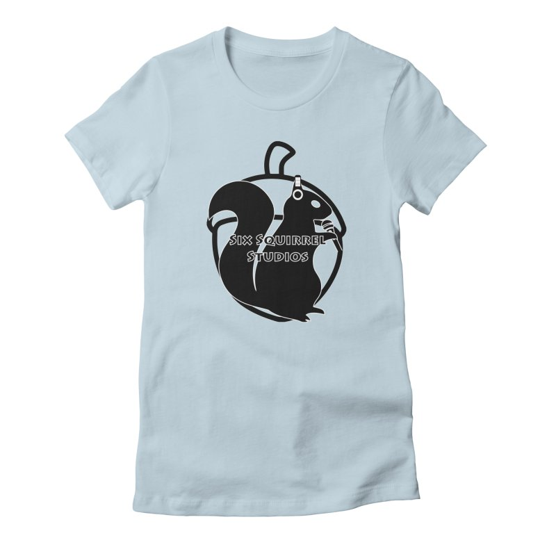 Classic Six Squirrel Studios Women's Fitted T-Shirt by SixSqrlStore